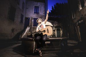 bAM Hatson accompagné par Nicolas Casanova, Fête de la musique 2016 à Saint-Angel dans l'Allier